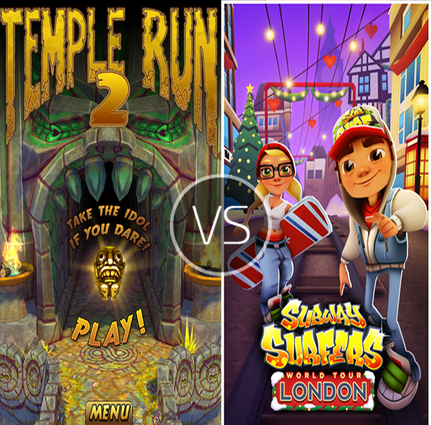 Temple Run 2 Vs Subway Surfers In What Setting Would You Like To Run The Rem